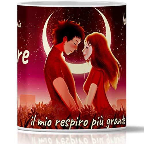 Tazza San Valentino per lei e per Lui. Tu Sei Il Mio Amore…. Tazza Colazione Romantica Regalo per Fidanzata e Fidanzato, Anniversario