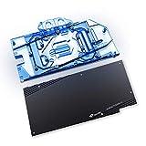 Bykski GPU Copper Water Cooling Block for Asus Dual TUF RTX3070 RTX3060Ti 8G Gaming (12V LED GPU Block with Backplate)