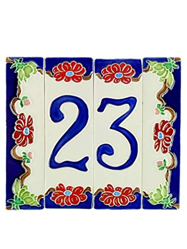 fd-bolletta arredamento e illuminazione hausnummernschild,Hausnummern Keramik italien nf 2 Maße: Höhe 15cm,Breite insgesamt 17,4cm