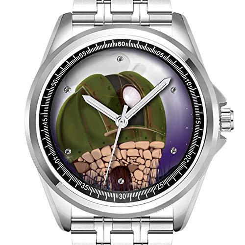 Reloj de pulsera personalizado para hombre, impermeable, reloj de pulsera diamante_132. Observatorio astronómico