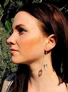 raw quartz earrings