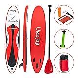 [page_title]-Uenjoy Sup aufblasbares 10'30'x4 rund um das Paddle Board, mit komplettem Zubehör, perfekt für Yoga-Angeln auf Tour , Rot…