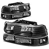 DNA Motoring HL-OH-CS99-4P-BK-CL1 Headlight (Driver & Passenger Side)...