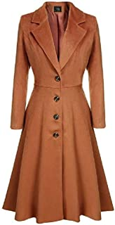 Howely Womens British Style Winter Fall Outwear Jacket Single Breasted Trench Coat