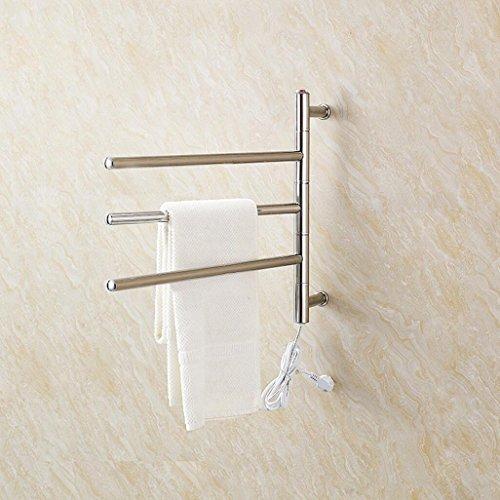 WRH-towel warmer Giratorio montado en la Pared de Acero Inoxidable eléctrico toallero/radiador...