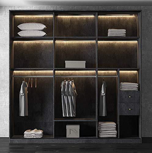 T. Z. Light Luxury Minimalist Glass Door Household Wardrobe Solid Wood Sliding Doors Sliding Doors Bedroom Wardrobe