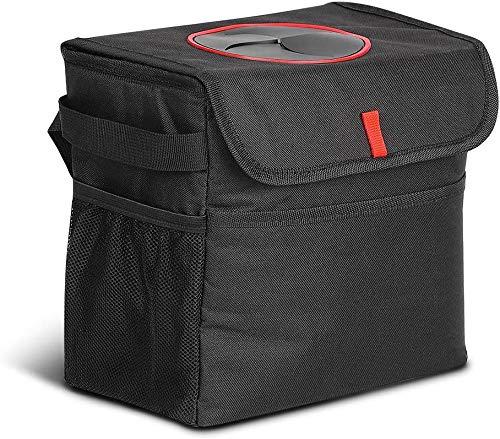 LIANTRAL Car Rubbish Bin, Car Trash Can with Lid and Side Pockets, Waterproof Leak-proof Nylon Car Trash Bag for Car