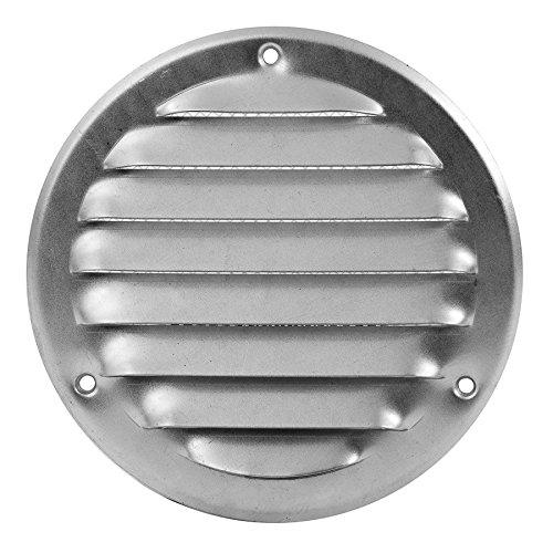 Metalen ventilatierooster - Ø 240 mm verzinkt - uitlaatrooster - rond - met insectenbescherming