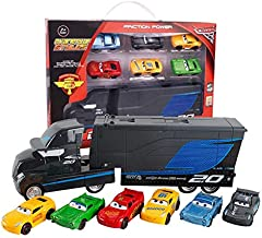 METRO TOY'S & GIFT 7 Pieces Set Disney Pixar Cars 3 Lightning McQueen Jackson Storm Mack Uncle Truck 1:55 Alloy Toy Truck Cars Toy for Children(Multicolour)