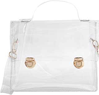 Mogor Women's Transparent Crossbody Bag Clear Messenger Shoulder Bag