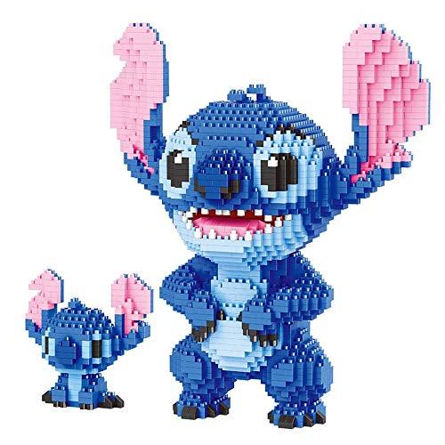 Legxaomi 2300 unids+puntada diamante bloque de construcción Micro Lilo & Stitch figura lindo modelo 3d 22 cm para niños mini ladrillos juguetes