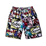 Hombres Pantalones Cortos de Playa Deporte Verano Shorts Casuales Impresión Divertida Pantalón...