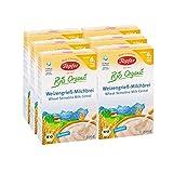 Töpfer Bio-Weizengrieß-Milchbrei, 6er Pack (6 x 200g)