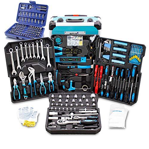 BITUXX 1300 Teiliges Werkzeugkofferset Werkzeugkasten Werkzeugbox Werkzeugkiste Knarrenkasten Werkzeugtrolley Nusskasten Ratschenkasten Ratschenkoffer Ratsche Ringschlüssel