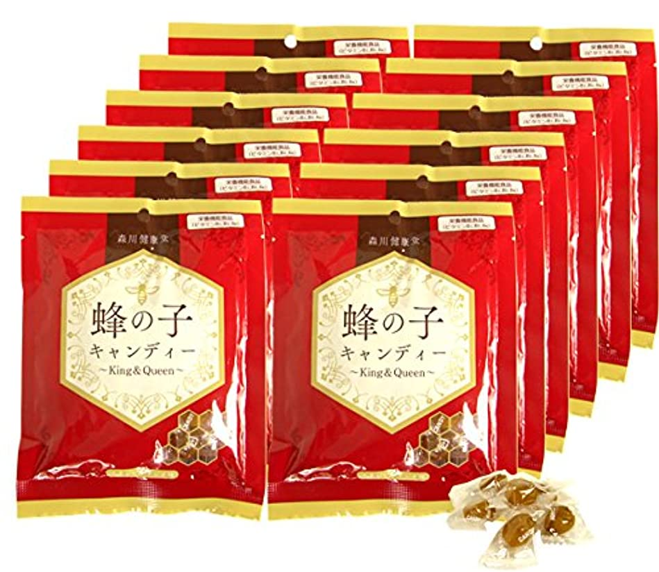 平らな大きさ微視的森川健康堂 蜂の子キャンディー 70g (70g×12個)