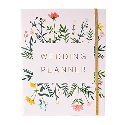 Modern Wedding Planner Book and Organizer for Brides with Gift Box | Engagement Gift for Couples | Hardcover Bridal Planning Journal Notebook | Wild Flowers