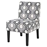 YAHEETECH Accent Chair Modern Upholstered Armless Chairs Casual Fabric Cloth Single Sofa Chair for Living Room Bedroom Libing Room Vanity Desk