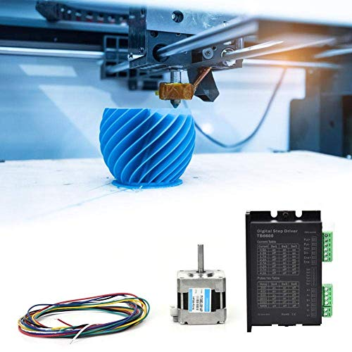 HYY-YY Stepper Motor, Nema 16 Stepper Motor+Motor Driver 1.8deg 0.8A 28.3oz.in/20Ncm for 3D Printer/Engraving Machine