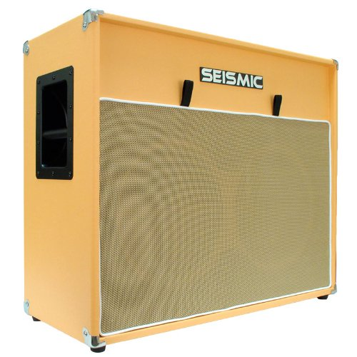 Seismic Audio - 212 GUITAR SPEAKER CAB EMPTY - 7 Ply Birch - 12' Speakerless Cabinet - Vintage 2x12 - Orange Tolex - Wheat Cloth Grill - Front or Rear Loading Options