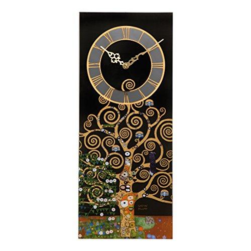 Goebel 67000501 Lebensbaum Uhr - Wanduhr - mit Echtgold 20 x 3,5 x 48 cm