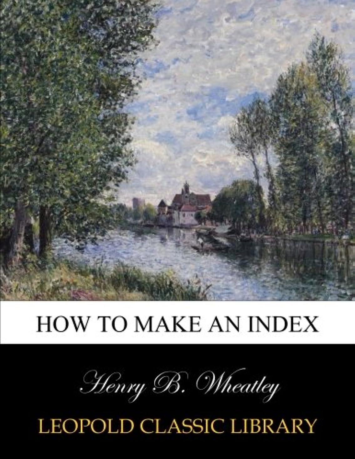 キルト定期的にHow to make an index