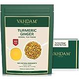 VAHDAM, Kurkuma-Ingwer-Kräutertee Loose Leaf | (100 Tassen) | Indiens Wundergewürz | Kurkuma-Tee &...