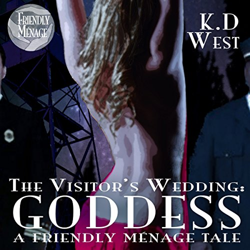 Couverture de Goddess: The Visitor's Wedding: A Friendly Ménage Tale (MMF Threesome short story)