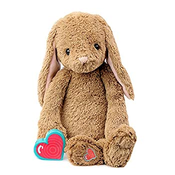 My Baby's Heartbeat Bear Recordable Stuffed Animals 20 sec Heart Voice Recorder for Ultrasounds and Sweet Messages Playback Perfect Gender Reveal for Moms to Be Vintage Bunny