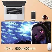 Vampsky アニメ悪魔スレイヤーKimetsuんYaiba、ステッチエッジ滑り止めラバーベースとノートパソコンの拡張大型ゲーミングマットのための日本のアニメノンスリップラバーマウスパッド (サイズ : Thickness: 4mm)