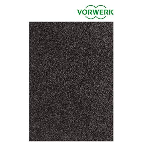 Vorwerk vlakpolig tapijt effen in donkergrijs woonkamer Muster bestellen