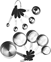 Generic 10pcs Stainless Steel Measuring Spoons Kitchen Measuring Scoop for Cooking Baking Measuring Dry and Liquid Ingredi...