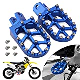 JFG RACING DRZ400 Foot Pegs,Dirt Bike Foot pegs,CNC Wide Footrest Foot Pedals Rests CNC MX For RM125 RM250 RM250Z RMX250 DR-Z400 DR-Z400E DR-Z400S DR-Z400SM KLX400R (Blue)