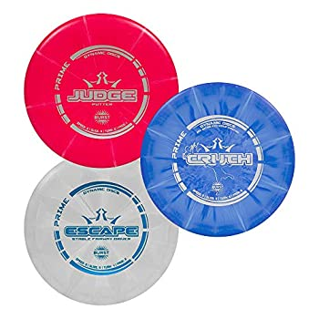 Dynamic Discs 3 Disc Prime Burst Starter Set   Set Includes a Prime Judge Prime Truth and Prime Escape   Maximum Distance Frisbee Golf Driver   Frisbee Golf Stamp and Color Will Vary
