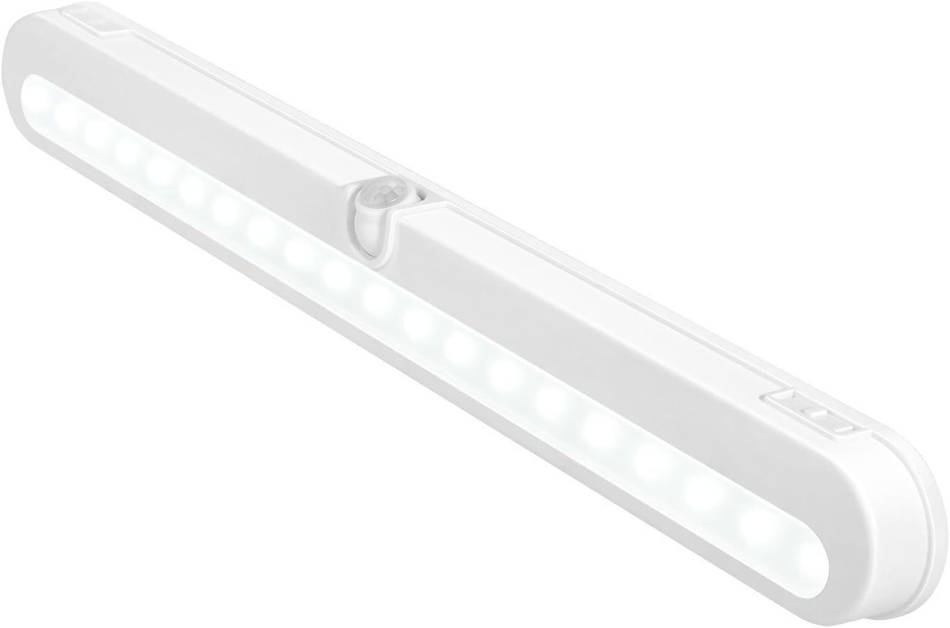 T01L LED Closet Light - BLS Super Bright 20 LED Under Cabinet Lighting Battery Powered/DC Input Wireless Motion Sensing Light, Auto On Off Switch, Motion Sensor & Light Sensor, Light Beam Adjustable