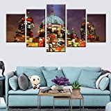 FTFTO Living Equipment -5 Plates Modular Wall Art Berlin Cathedral Architectural Painting Poster For Home Decor Living Room Study Art Mural