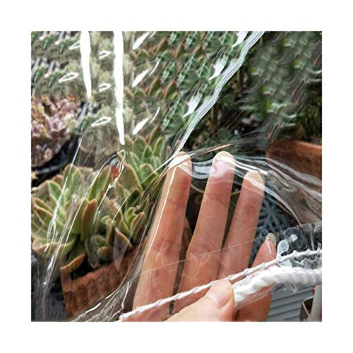 ETNLT-FCZ Toldo Clear Tarpaulin Plástico Impermeable a Prueba de Viento Lona Envuelta Espesar Borde Plegable Claro Lona con los Ojos del Agujero del Metal for la vegetación de Coches