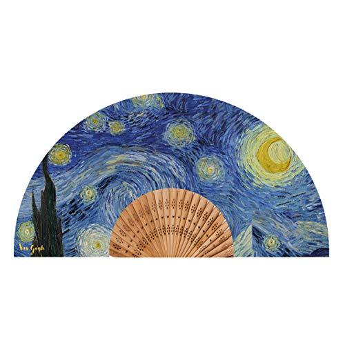 Van Gogh Abanico, Modelo Noche Estrellada, Tela