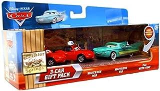 Disney / Pixar CARS Movie 155 Die Cast Car with Lenticular Eyes 3Car Gift Pack Waitress Mia, Waitress Tia Flo with Tray