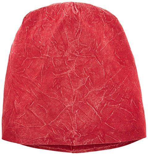 MSTRDS Bonnet en Jersey délavé. Taille Unique Rouge