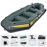 ACEWD Kayak Inflable 1 Personas Bote Barca Hinchable Pequeña para Pesca Balsa Hinchable Balsa Hinchable Grande - con 2 Remos para Niños Adultos