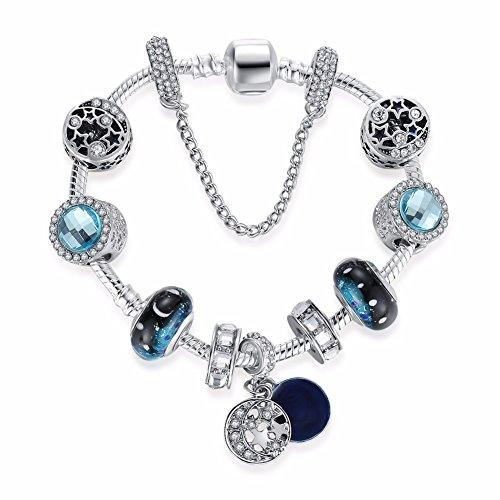 aimaoer Glasperlenarmband Art und Weise Schöner Blauer Stern Muttertagesgeschenkschmucksache-Damenschmucksachesommer-Weibliche Feiertagsdekorationen
