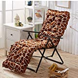 HYXXQQ Leopard Liegestuhl Kissen/Lounger Kissen, Zart Hautfreundlich, 53x163cm (20,8 X 64 Zoll), Outdoor | Sofa | Rest | Büro | Garten (Farbe : Brown, Size : 53x163cm)