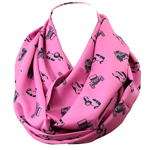 Di Capanni 4X4 infinity Scarf for Jeep Girl Birthday Gift for her anniversary present Wrangler accessories Rubicon
