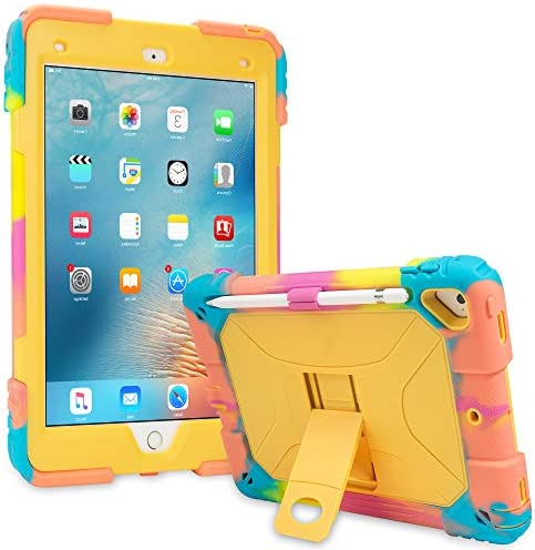 iPad Air 2 Case Shockproof Case Heavy Duty Shockproof Cover Vivid Colors with Stand for iPad product image