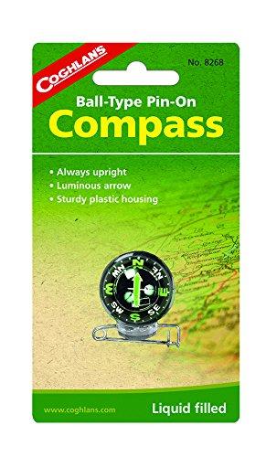 Coghlans Pin-On Kompass mit Anstecknadel - Kugelkompass