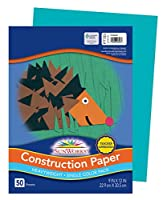 School Smart Heavyweight Construction Paper - 23cm x 30cm - Pack of 50 Sheets - Turquoise