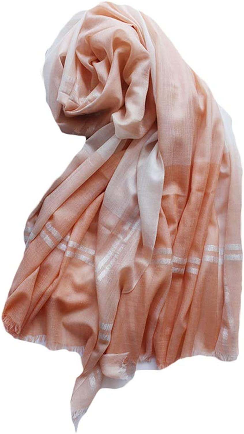 Scarf Women's MultiFunction Shawl Super Soft Solid and WoolBlend Scarf for Men and Women (color   orange)