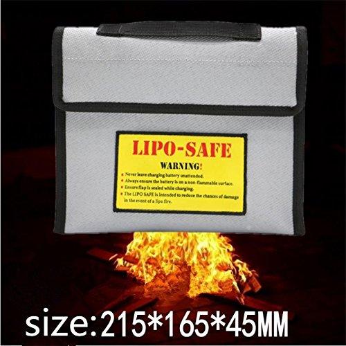 HELEISH Nueva bolsa a prueba de explosiones de seguridad a prueba de explosiones de seguridad de la batería Li-po 215 * 165 * 45 MM Piezas de montaje de bricolaje