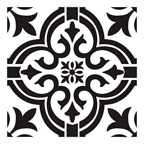 6pcs Mandala Stencils y plantilla para pintar - 30 30cm Plantillas de pared para pintar