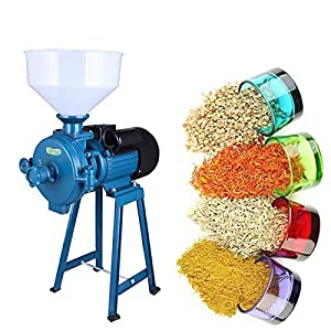 110V/220V Electric Mill Grinder, Grain Mill Heavy Duty Commercial Grain Grinder Machine Dry Feed Flour Mills Cereals…